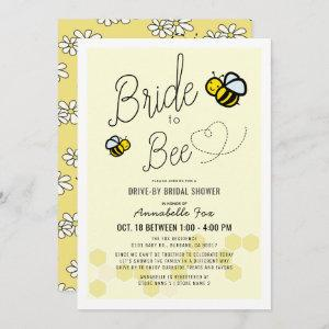 Bride to Bee Light Yellow Drive-by Bridal Shower Invitation starting at 2.56