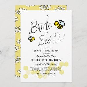 Bride to Bee White Drive-by Bridal Shower Invitation starting at 2.56