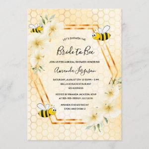 Bride to bee yellow tropical floral bridal shower invitation starting at 2.40
