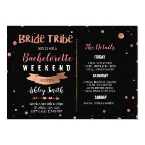 Bride tribe Bachelorette Itinerary invitation starting at 2.50