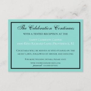 Bride & Wedding Suite Modern Reception Enclosure Card starting at 2.01