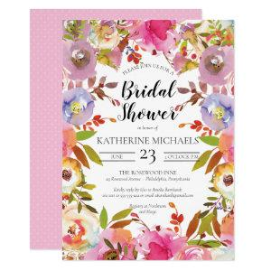 Brilliant Blooms Watercolor Floral Bridal Shower Invitation starting at 2.40