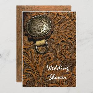 Brown Western Horse Saddle Couples Wedding Shower Invitation starting at 2.60