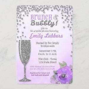 Brunch and Bubbly Bridal Shower Glitter Invitation starting at 2.75