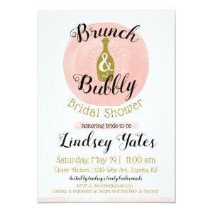 Brunch and Bubbly Bridal Shower Invitation starting at 2.45