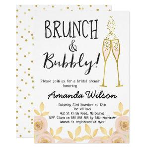 Brunch And Bubbly Bridal Shower Invitation starting at 2.15