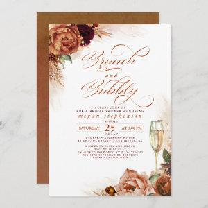 Brunch and Bubbly Bridal Shower Rust Pampas Grass Invitation starting at 2.51