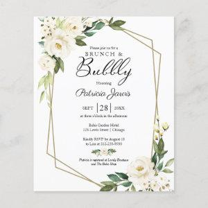 Brunch And Bubbly Budget Floral Invitation  starting at 0.55