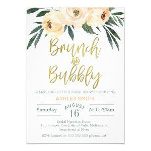 Brunch and bubbly floral bridal shower invitation starting at 2.40