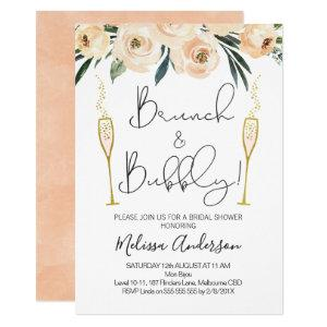 Brunch And Bubbly Floral Bridal Shower Invitation starting at 2.15