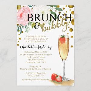 Brunch and Bubbly Floral Bridal Shower Invitation starting at 2.82