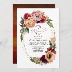 Brunch and Bubbly Floral Modern Fall Bridal Shower starting at 2.51