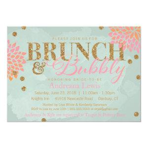Brunch and Bubbly Glitter Watercolor Shower Invite starting at 2.52