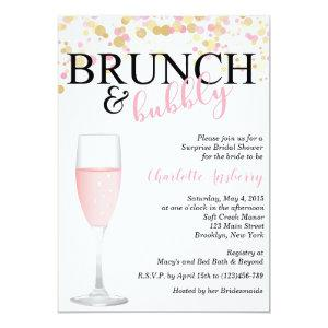 Brunch and Bubbly Pink Bridal Shower Invitation starting at 2.82