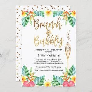 Brunch and Bubbly Tropica Bridal Shower Invitation starting at 2.40