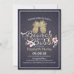 Brunch Bubbly Bridal Shower Gold Pineapple Couple starting at 2.40