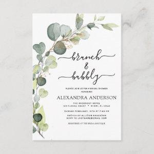 Brunch & Bubbly Bridal Shower Greenery Eucalyptus starting at 2.06