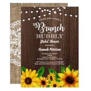Brunch & Bubbly invitation Sunflower rustic starting at 2.40