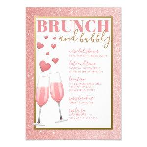 BRUNCH & BUBBLY | ROSE GOLD CHAMPAGNE INVITATION starting at 2.40