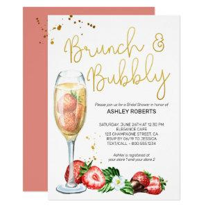 Brunch Bubbly Strawberries Champagne Bridal Shower Invitation starting at 2.40