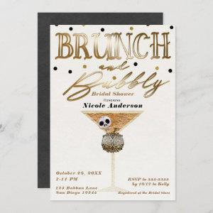 Brunch & Bubbly Wine Gold Halloween Bridal Shower starting at 2.71