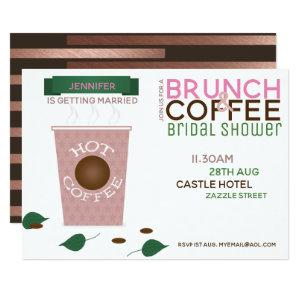 BRUNCH COFFEE Bridal Shower Invitation Pink Green starting at 2.51