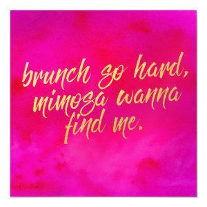Brunch So Hard Invitation Pearl Shimmer Paper starting at 4.10