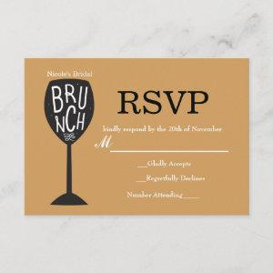 BRUNCH Wine Glass ANY COLOR & EVENT RSVP Card starting at 2.16
