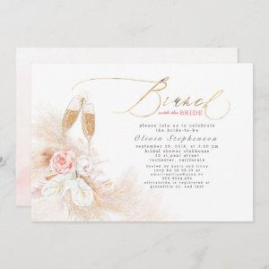 Brunch with the Bride Pampas Grass Bridal Shower Invitation starting at 2.51