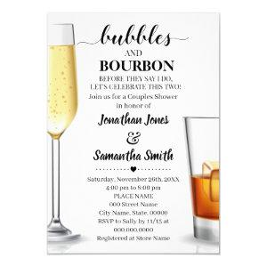 Bubbles and bourbon before I do couples shower Invitation starting at 2.55
