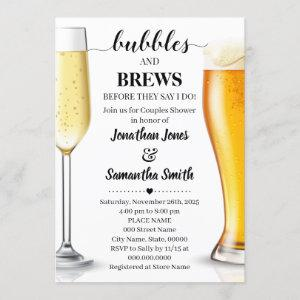 Bubbles and brews before I do couples shower Invitation starting at 2.55