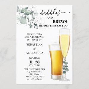 Bubbles and Brews Couples Shower Invitation starting at 2.55