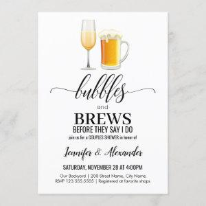 Bubbles and Brews Couples Shower Invitation starting at 2.50