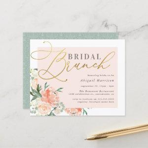 Budget Blush & Gold Script Floral Bridal Brunch starting at 0.60