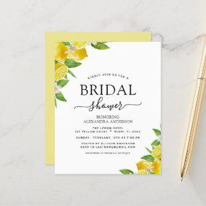 Budget Bridal Shower Lemon Citrus Invitations starting at 0.50