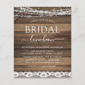 Budget Bridal Shower Luncheon Farmhouse starting at 0.50