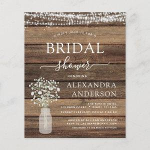 Budget Bridal Shower Rustic Baby's Breath Lights starting at 0.50