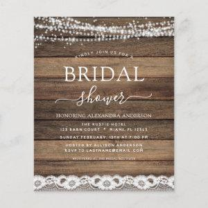 Budget Bridal Shower Rustic Farmhouse starting at 0.50