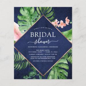 Budget Bridal Shower Tropical Palm Navy Blue starting at 0.50
