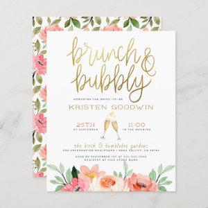 Budget Champagne Heart Gold Brunch & Bubbly Bridal starting at 0.61
