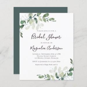 Budget Eucalyptus Bridal Shower Invitation starting at 0.61