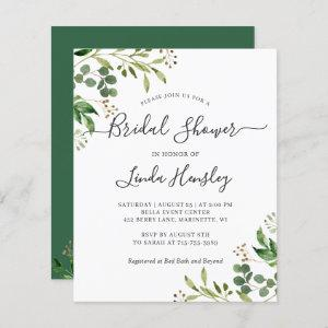 Budget Eucalyptus Leaves Bridal Shower Invitations starting at 0.60