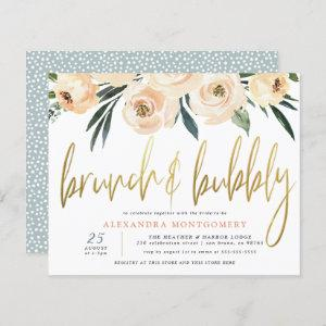 Budget Flowers Gold Brunch & Bubbly Bridal Shower starting at 0.61