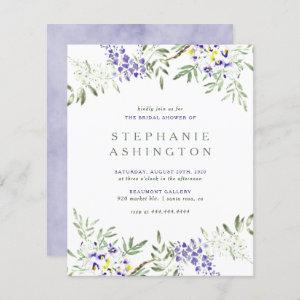 Budget Purple Watercolor Wisteria Bridal Shower starting at 0.60