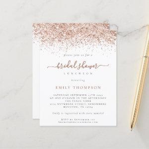 Budget Rose Gold Glitter Bridal Shower Luncheon starting at 0.61