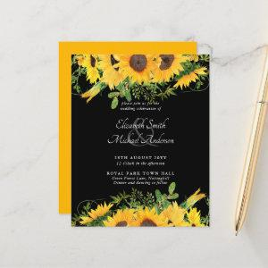 BUDGET Rustic Sunflower Themed Wedding Invite starting at 0.61