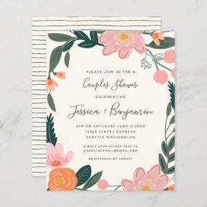 Budget Stylish Pink Garden Floral Couples Shower   starting at 0.76