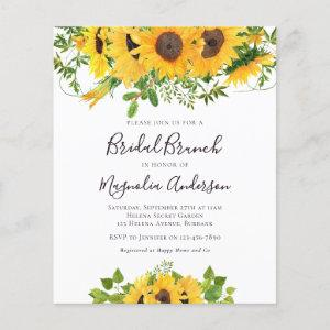Budget Sunflower Bridal Shower Brunch Invitation starting at 0.61