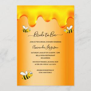 Bumble bees bride to bee honey drips bridal shower invitation starting at 2.40