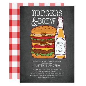 Burgers & Brew Couples Shower Invitation starting at 2.51